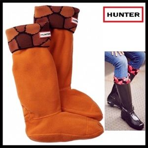 HUNTER ORIGINAL TALL CUFFED WELLY BOOT SOCKS A2C